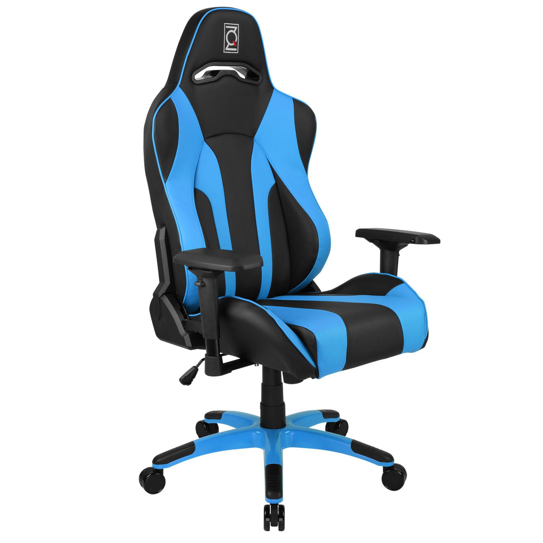 ZQRacing Hyper Sport Series Gaming fice Chair Black Blue [ETA 15