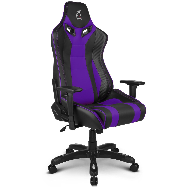 ZQRacing Alien Series Gaming fice Chair Black Purple [In Stock