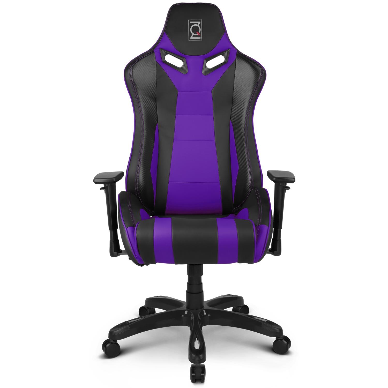ZQRacing Alien Series Gaming fice Chair Black Purple ZQRacing