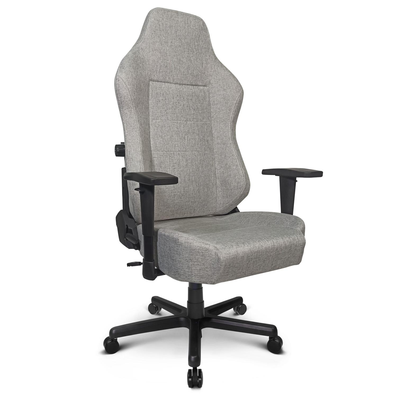 Zqracing Saturn Series Cloth Fabric Gaming Office Chair Hemp Gray Zqracing